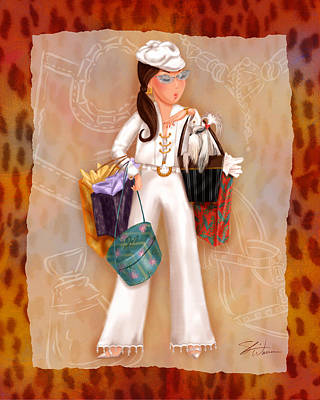 Mixed Media - Time To Shop 3 by Shari Warren