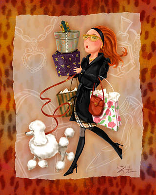 Mixed Media - Time To Shop 4 by Shari Warren