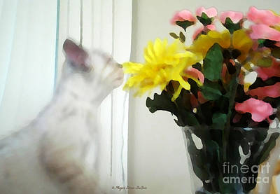 Animal Lover Digital Art - Time To Smell The Flowers by Megan Dirsa-DuBois