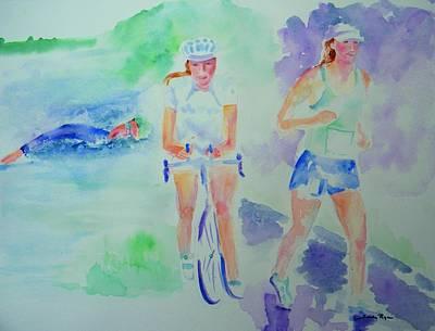 Time To Tri Art Print by Sandy Ryan