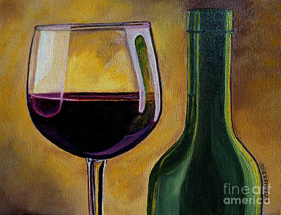 Wine Reflection Art Painting - Time To Unwind by Julie Brugh Riffey