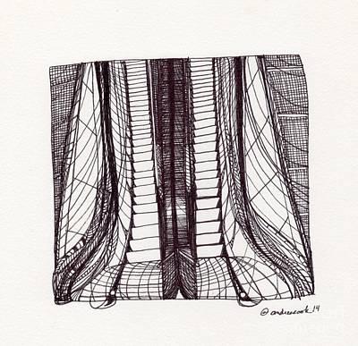 Time Travel - Escalator Art Print