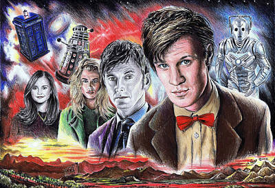 Tardis Painting - Time Travel by Andrew Read