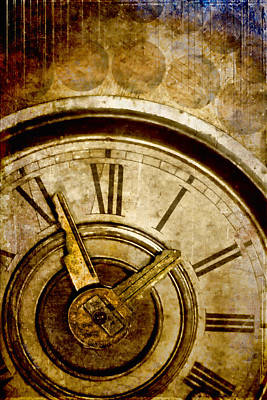 Clock Photograph - Time Travel by Carol Leigh
