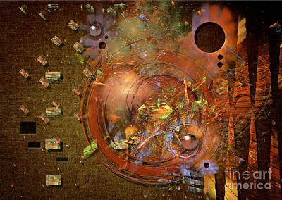 Digital Art - Time Tunel by Alexa Szlavics
