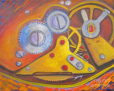 Time Unfolding Study Art Print by Vivian Haberfeld