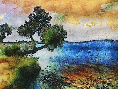 Digital Art - Time Well Spent - Medina Lake by Wendy J St Christopher
