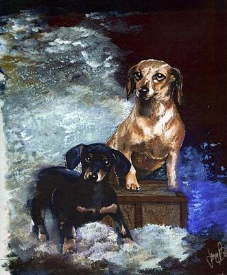 Painting - Timee And Emmie by Jerry Bates