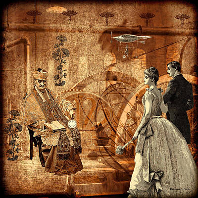Mechanisms Mixed Media - Timekeeper Steampunk by Bellesouth Studio