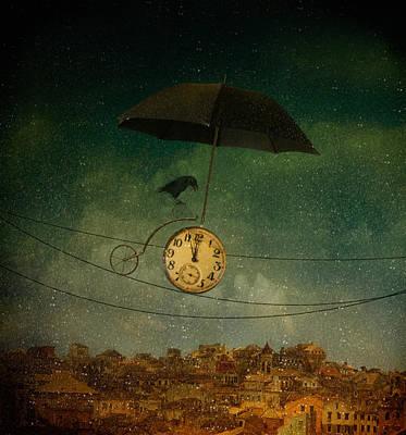 Crow Wall Art - Photograph - Timekeeper by Svetlana Melik-nubarova