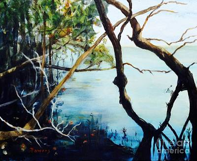 Mangrove Forest Painting - Timeless Forest by Mary Lynne Powers
