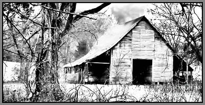 Barn In Woods Photograph - Timeless In Black And White by Betty LaRue