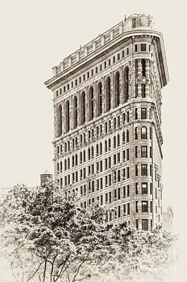 Purely Purple - Timeless-NYC Flatiron Building II by Regina Geoghan