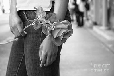 Photograph - Timeless Rose Mono by Charline Xia