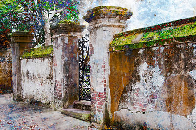 Art Print featuring the photograph Brick Wall Charleston South Carolina by Vizual Studio
