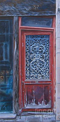 Antique Ironwork Painting - Timely Design by Anda Kett