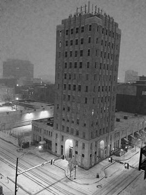 Downtown Huntsville Photograph - Times Building In The Snow by Carole Foret