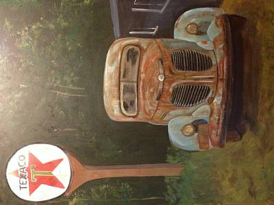 Texaco Sign Painting - Times Past by Shaunna Newell
