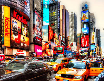 Photograph - Times Square 1738 by Jeff Stallard