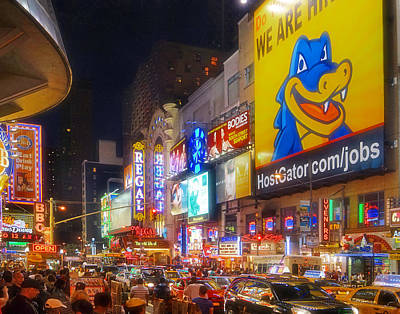 Photograph - Times Square 1739 by Jeff Stallard