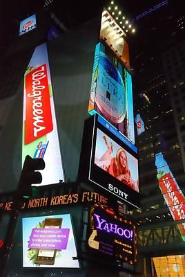 Times Square Ads Print by Jim Hughes