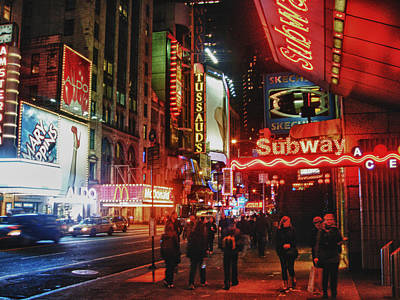 Times Square  Art Print by Anthony  Myers