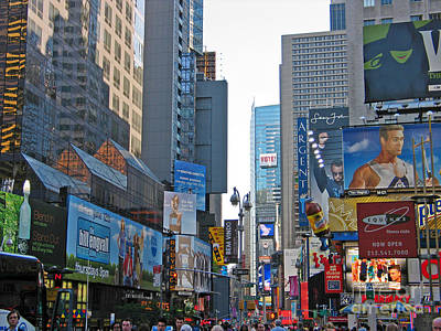 Photograph - Times Square by Art Photography
