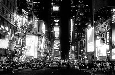 Times Square At Night Art Print by John Rizzuto