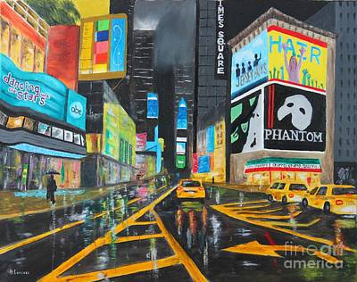 Painting - Times Square by Bev Conover