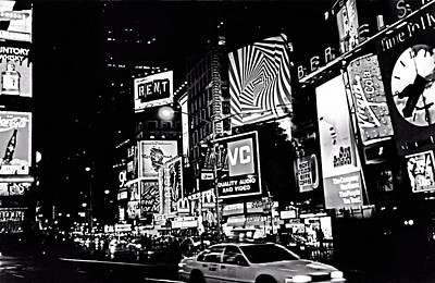 Photograph - Times Square Ca. 1992 by Bob Wall