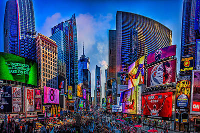 Skylines Royalty-Free and Rights-Managed Images - Times Square by Chris Lord