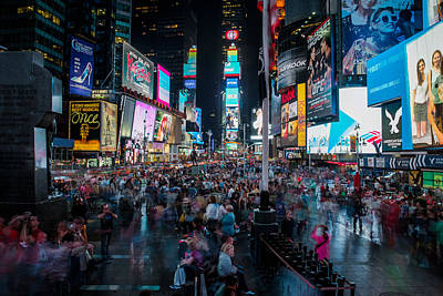 Art Print featuring the photograph Times Square by Chris McKenna