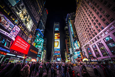 Photograph - Times Square by David Morefield