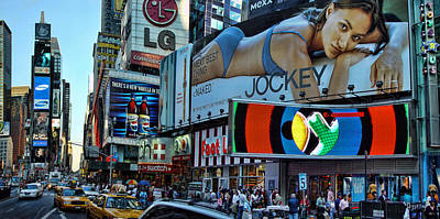 Times Square Energy Art Print by New York