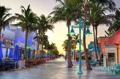 Times Square Fort Myers Beach Art Print by Timothy Lowry