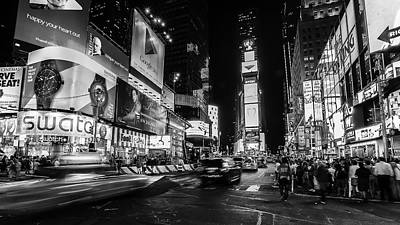 Photograph - Times Square by Frederick H Claflin
