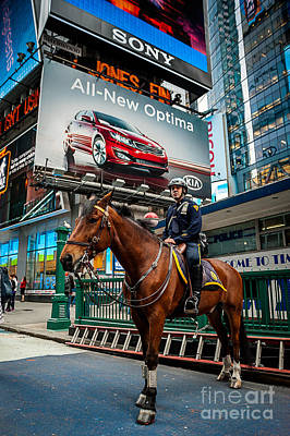 Photograph - Times Square Horse Power by Ray Warren