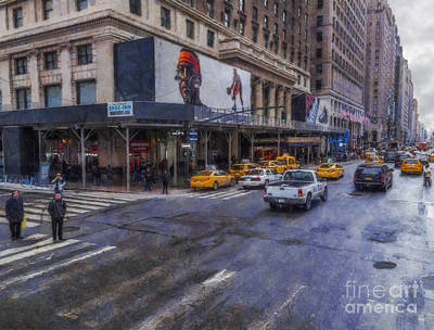 American City Scene Digital Art - Times Square by Ian Mitchell