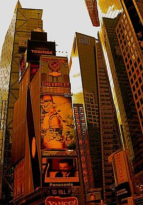 Photograph - Times Square In Manhattan by Monique's Fine Art