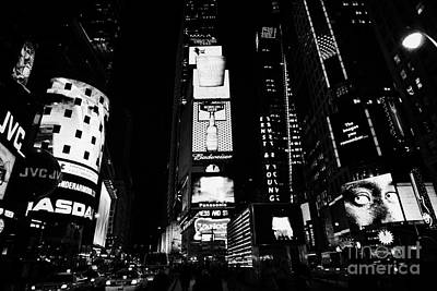 Times Square In Nighttime Manhattan New York City Art Print by Joe Fox
