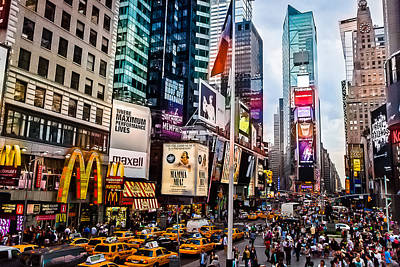 The Economy Photograph - Times Square In Twilight by Ellie Teramoto