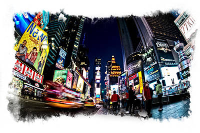 Times Square Art Print by James Howe