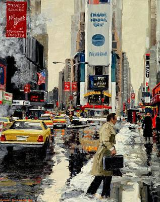 Newton Painting - Times Square '95 by Michael Swanson