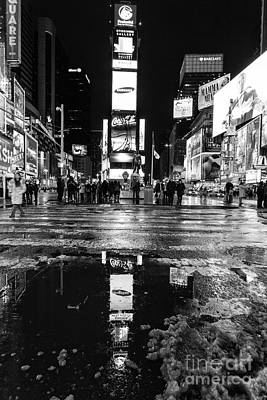 Times Square Monochromatic  Art Print by John Farnan