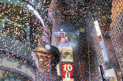 Times Square - New Years  Art Print by David Yack