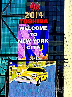 Times Square New Years Eve Ball Art Print by Ed Weidman