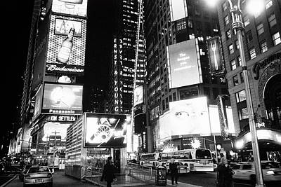 Photograph - Times Square Night by Dave Beckerman