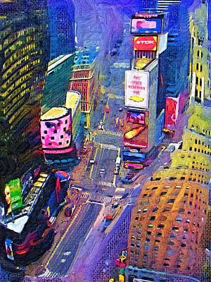 Times Square Nyc Art Print by Bud Anderson