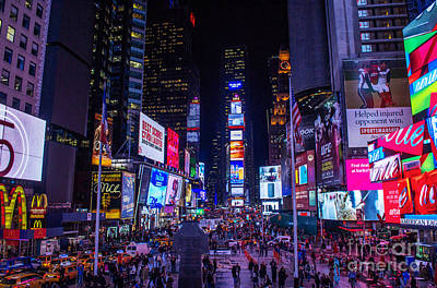 Photograph - Times Square On A Monday Evening by Rima Biswas