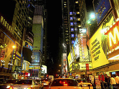 Times Square Photofresco Art Print by Joseph Hedaya